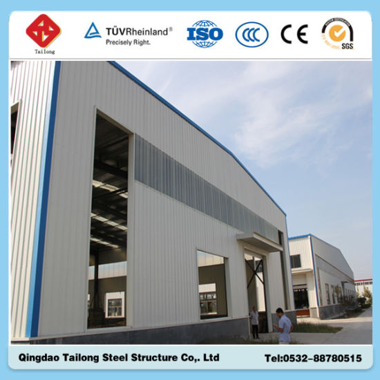 Galvanized Prefabricated Light Steel Frame Structure Warehouse pictures & photos