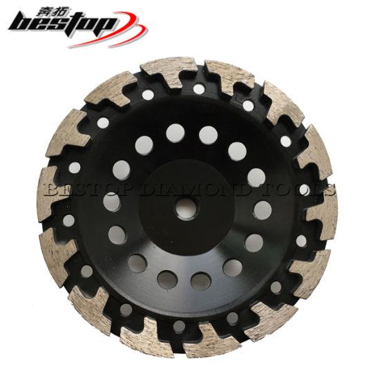 "4"" T-segment Diamond Cup Wheel for Concrete Masonry Stone Grinding 5//8""-11 Arbor"