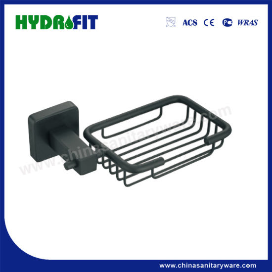 Hot Sale Stainless Steel 304 Bathroom Accesories Black Soap Basket (BAS3256B)