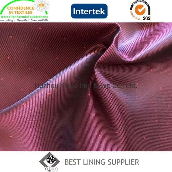 Polyester Men's Suit Body Lining Dobby Lining Fabric Factory
