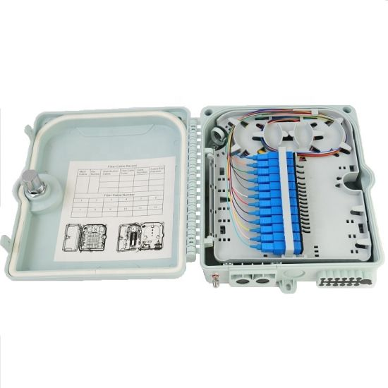 Fiber Termination Box Wall Poll Mount Outdoor FTTH UV Resistant 8 Ports