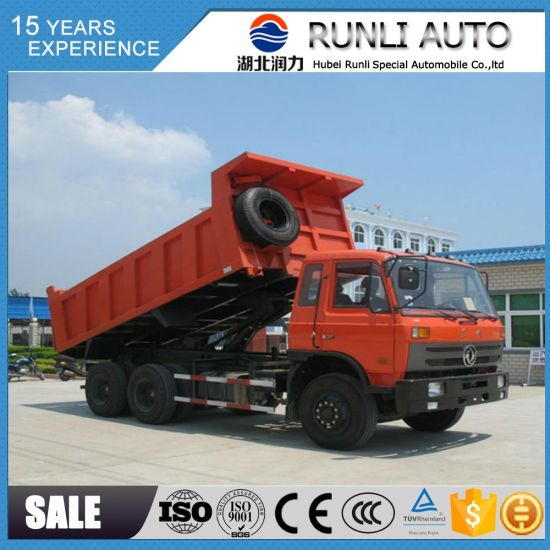 Dongfeng 6X4 Rhd 12 Ton 10 Wheel Dump Truck for Sale with 210HP of Engine