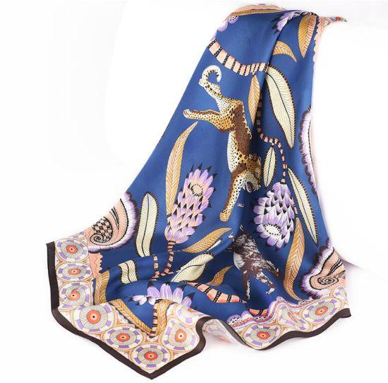 Custom Design Digital Printed Silk Fabric Chiffon Scarf