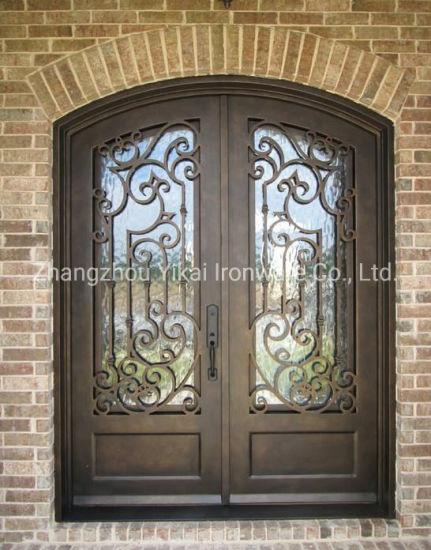 Popular Design Hot Sale Hand Forged Wrought Iron Door Security Door