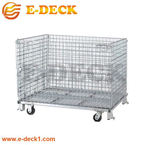 Heavy Duty Stainless Wire Mesh Container for Warehouse Storage pictures & photos