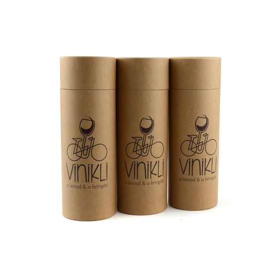 Delicate Kraft Paper Boxes Recycled Round Kraft Paper Tube for Cosmetic pictures & photos