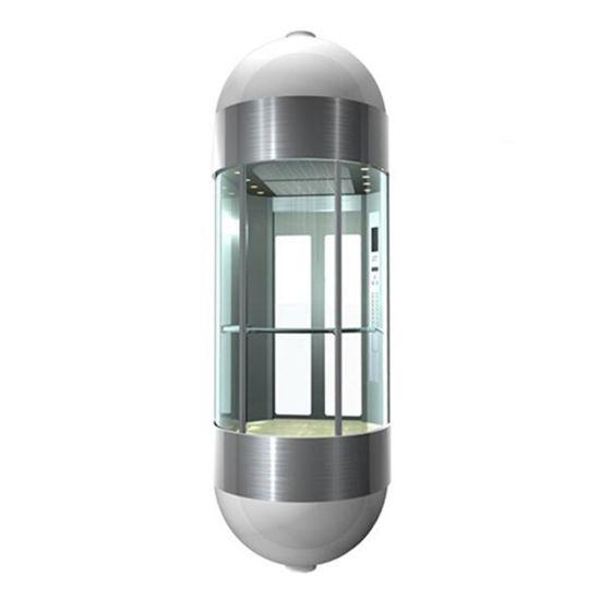 8 Person Machine Room-Less Panoramic Shopping Mall Passenger Elevator