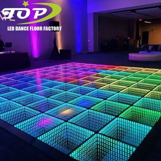 China Professional Wedding Dance Floor LED Infinity Mirror 3D LED Dance Floor
