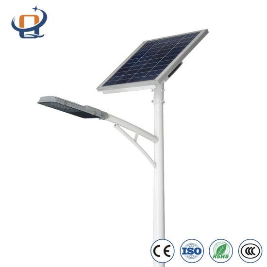LED Street Light Bright Solar Street Light Solar Powered Outdoor Lighting Decorative Street Lighting with Pole