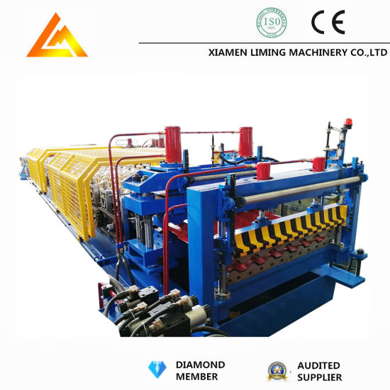 Factory Price Customized PLC Control Colored Cold Roof Tile Making Machine/Glazed Roof Tile Machine/Step Tile Roofing Sheet Roll Forming Machine Manufacturers