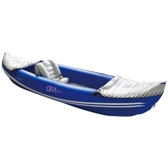 Dfaspo One Person Single Seat Classic Fishing Boat Inflatable Sports Kayak