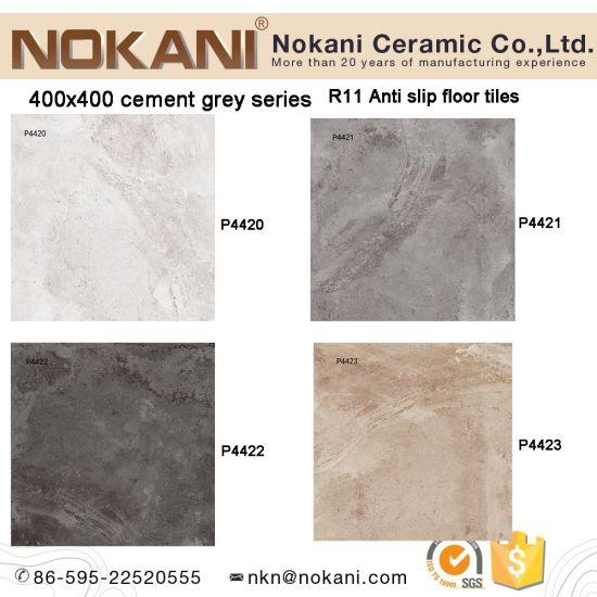 China 16x16 Anti Slip R11 Cement Grey Porcelain Floor Tile For