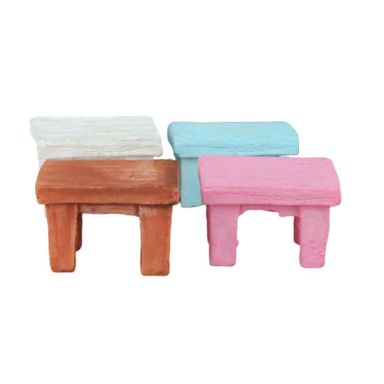 H6 Mini Figurines Miniature Resin Chairs Resin Crafts for Garden Home Decorations