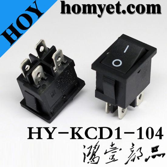 Boat Type Kcd Rocker Switch for Desk Lamp & Hair Drier