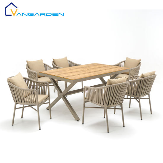 Weatherproof Patio Outdoor Home Garden Dining Chair and Table Furniture Set