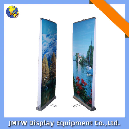 Retractable Advertising Display Stands Rollup Banner for Show with Double Sided