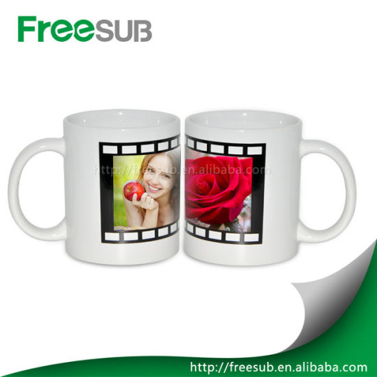 White Ceramic 11oz Customed Shape Color Changing Mugs Wholesale Sublimation Products pictures & photos