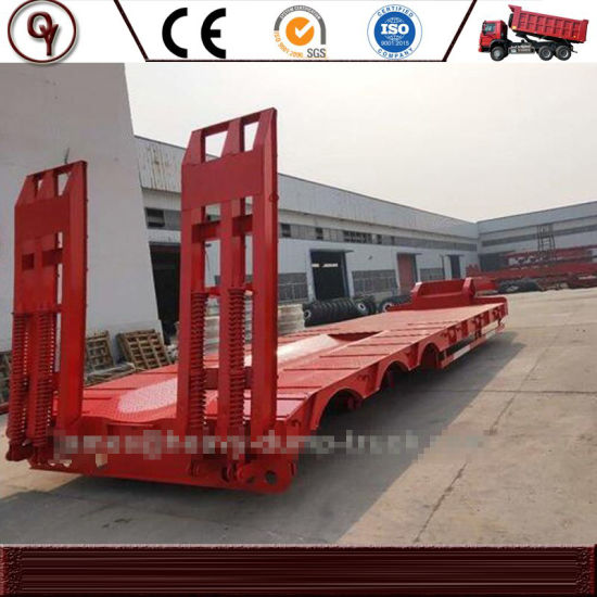 China Manufacturer 20FT or 40FT 3 Axle Flatbed Container Truck Semi Trailer for Sale pictures & photos