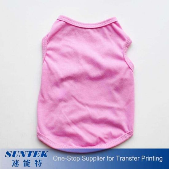 Sublimation Textile Blank Wholesales Dog Pet Clothes for Heat Press Printing