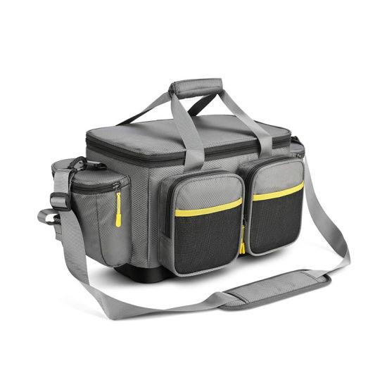 Fishing Tackle Bag, Water-Resistant Polyester Material Fishing Tackle Storage Bag