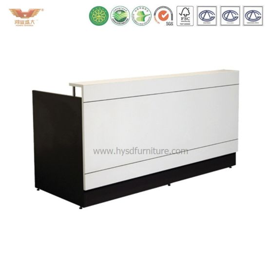 China Newest High Quality Modern Pure White Salon Reception Desk