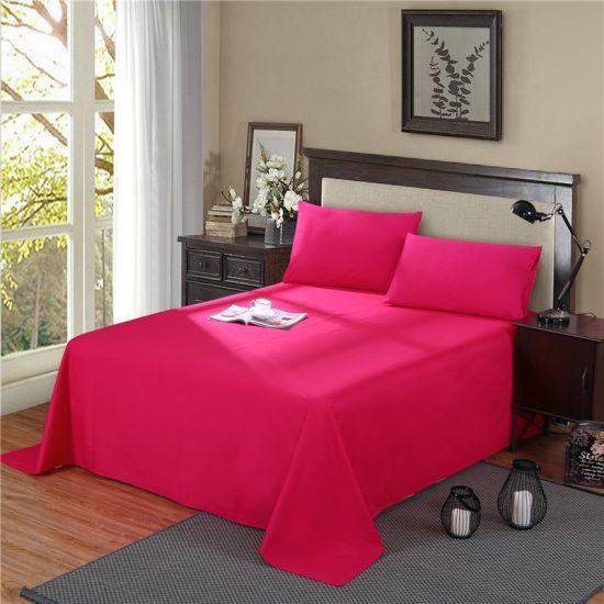 1500tc 1800tc Wrinkle Free Bed Line Microfiber Bedsheet