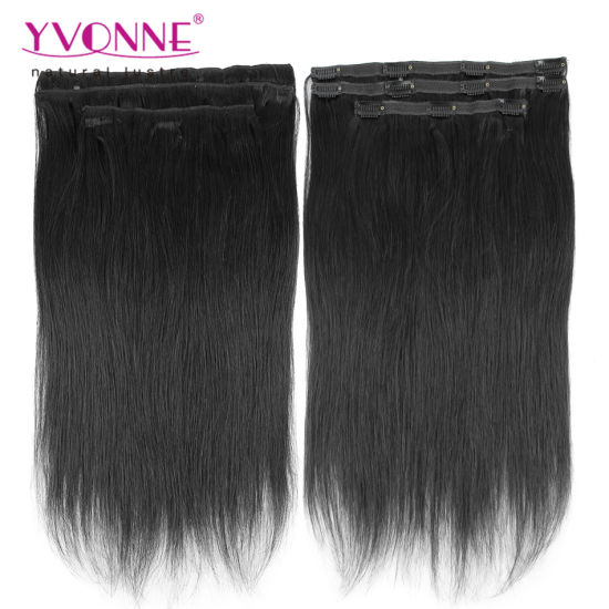 Brazilian Straight Clip in Hair Extensions pictures & photos