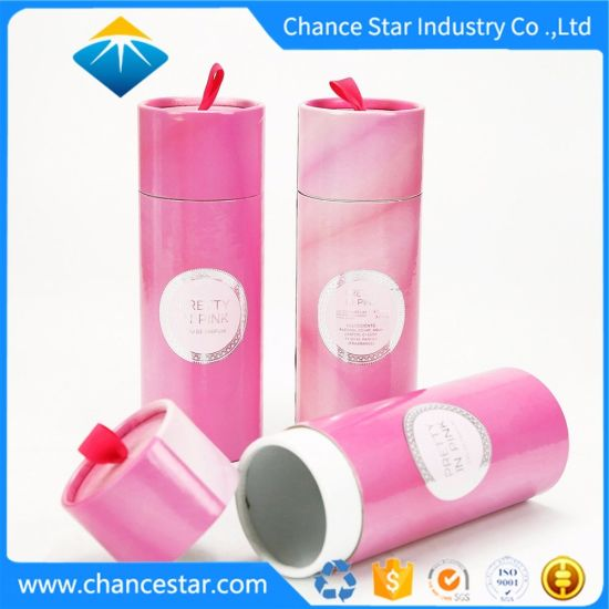 Custom Round Cardboard Perfume Box with Foam Insert