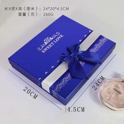 Chocolate Gift Boxes, Heart-Shaped Gift Boxes, Multiple Packaging, Square Bluep Paper Box, Purple Gift Boxes, Factory Outlets.
