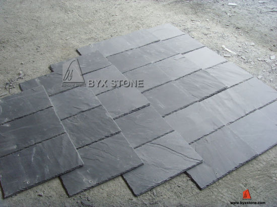 Black/Yellow/Green Slate for Roofing, Flooring and Wall pictures & photos