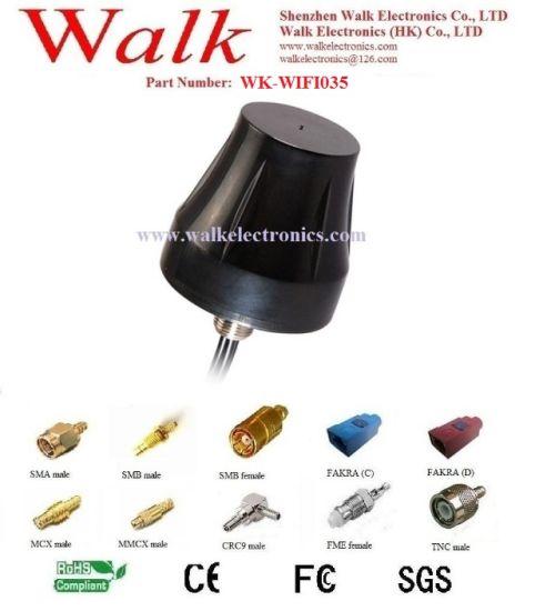 IP67 Screw Mount WiFi Antenna, Waterproof 2.4GHz Antenna, Outdoor Use Bluetooth Antenna, Roof Mount WiFi Car Antenna