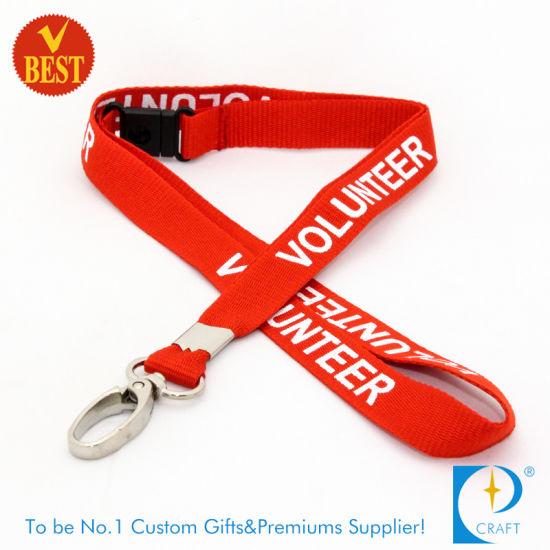 FREE P/&P RED VOLUNTEER Lanyards