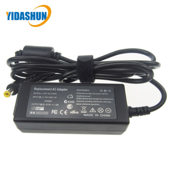 10.5V 1.9A 4.8*1.7 Laptop AC DC Power Adapter for Sony