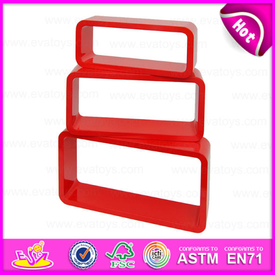 china 2015 red wood wall cube shelf mdf wood square wall cube shelf rh eva toys en made in china com Floating Cube Shelves ikea red cube shelves