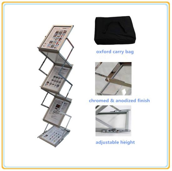 China Premium Portable A40 Brochure Holder Literature Display Stand Simple Portable Literature Display Stands