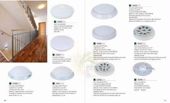 Ni-CD Battery 3.6V Ceiling PIR Motion Sensor LED Emergency Light pictures & photos