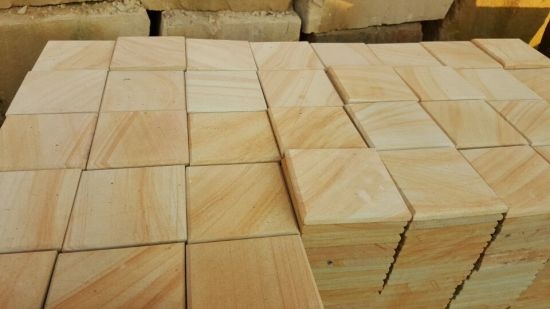Wooden Yellow Sandstone for Floor/Wall Tile Building Materials pictures & photos