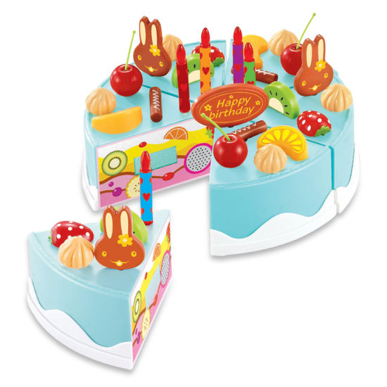 High Quality Plastic Fruit Cake Toy Cut and Play Food pictures & photos