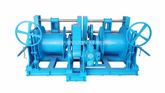 16t Hydraulic Double Drum Trawl Winch with ABS/BV Certificate