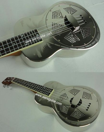 Aiersi Copper Hawaii Tree Sandblasted Resonator (Resophonic) Concert Ukulele pictures & photos