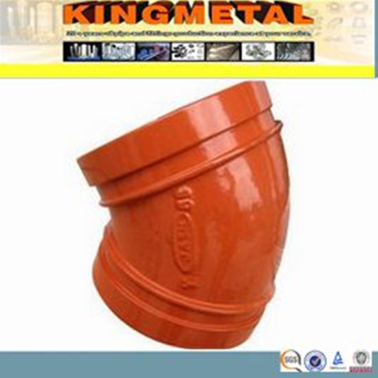 FM&UL Approved Ductile Cast Iron 22.5 Degree Elbow.