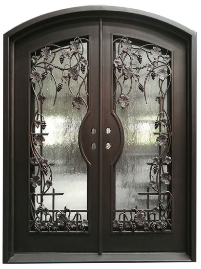 China Sound Proofing Hand Made Wrought Iron Entry Door China Metal