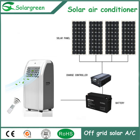 Heating and Cooling Efficient Acdc Energy Saving Solar Air Conditioner pictures & photos
