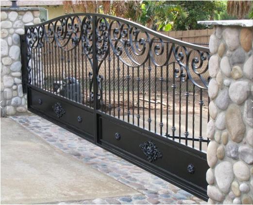 Beautiful House Simple Sliding Iron Main Gate Designs - Download House Simple Small House Sample Main Gate Design Pics