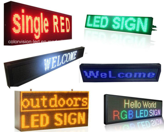 Mini Programmable Outdoor P10 RGB LED Moving Message Display Signs
