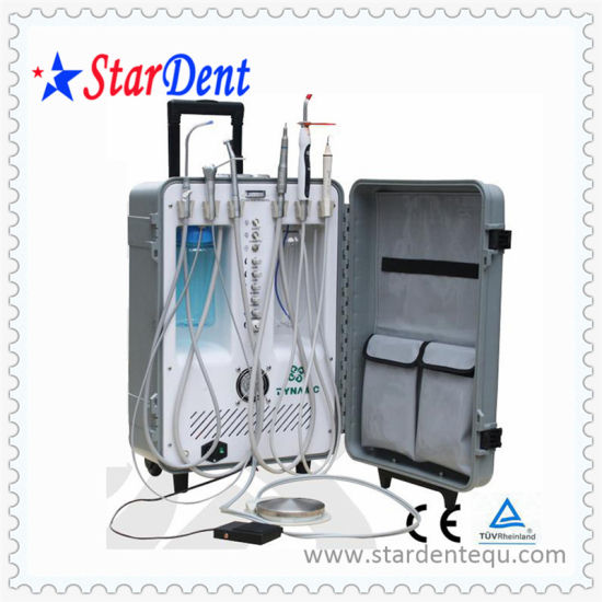 Portable Dental Chair with Curing Light and Scaler pictures & photos