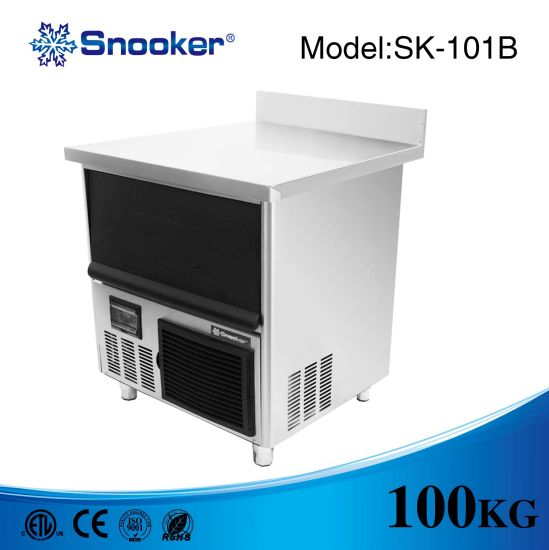 Bar Counter Cube Ice Making Machine 100kg/24h pictures & photos