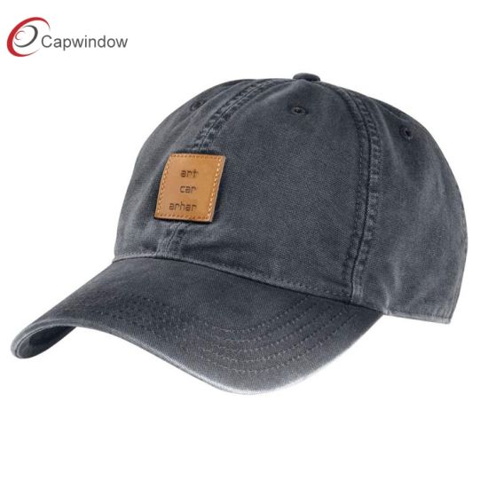 Organic Cotton Unconstructed Dad Hat with Leather Patch (65050099)