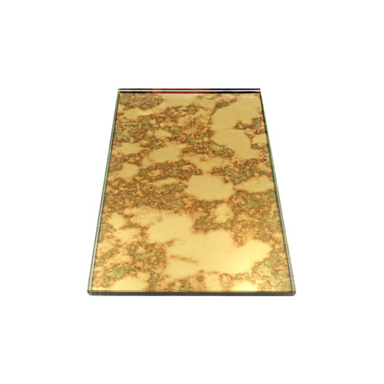 China Gold Frameless Colorful Antique Mirror Glass For Furniture And Wall Decoration China Antique Mirror Frameless Glass Mirror