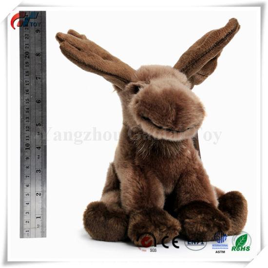 9 Inch Realistic Looking Stuffed Animal Plush Moose Toy